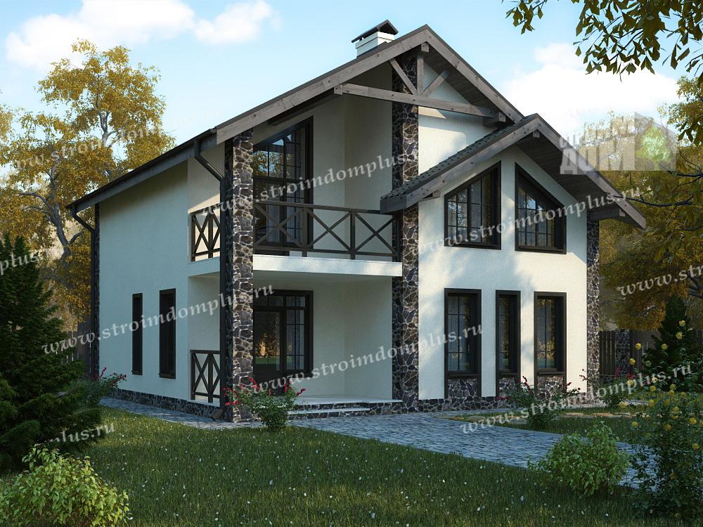Проект Дома из газобетона, кирпича - 07